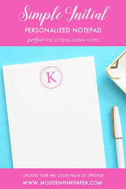 personalized polka dot notepad simple monogram notepad pink polka dot notepad wedding anniversary gifts