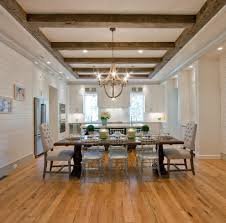 Wood Beam Ceilings Dining Room Traditional With Open Plan Kitchen
