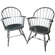 pair of metal windsor chairs