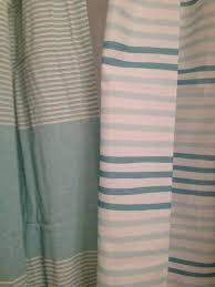 K I S S Keep It Simple Sister Striped Aqua Shower Curtains