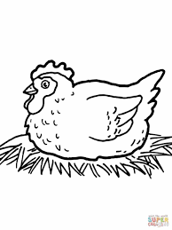 Small Picture Farm Animal Pages Free Hen Chick Coloring Pages And Chick Farm