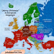'<b>Merry Christmas</b>' in European languages