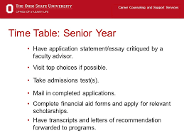 applying to graduate school ppt video online  time table senior year