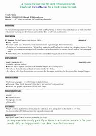 ... Sample Resume format for Freshers software Engineers Inspirational Best Resume  format for software Engineers] Resume ...