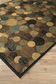 brown and cream rug green