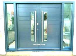 image of double front door wooden contemporary double front doors contemporary front doors with glass