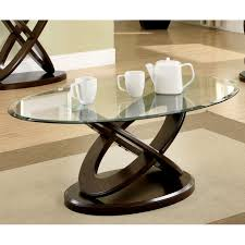 Furniture of America Evalline Oval Glass Top Coffee Table - Free Shipping  Today - Overstock.com - 16436662