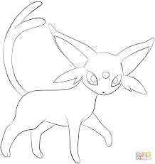Small Picture Espeon coloring page Free Printable Coloring Pages