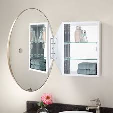oval mirrors for bathroom. Furniture: Enchanting Bathroom Oval Mirror And Modern White Medicine Cabinet With Round Mirrors For P