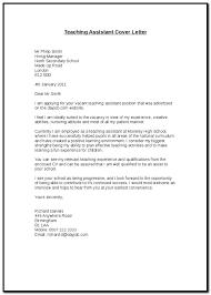 Sample Cover Letters For Teaching Assistant Positions Cover Letter