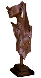 Wooden Display Stands For Figurines Jewelry Display Forms Necklace Display Form Ladies Display Stand 51