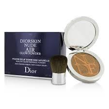 dior diorskin air healthy glow radiance powder with kabuki brush makeup forever mist fix ings makeup