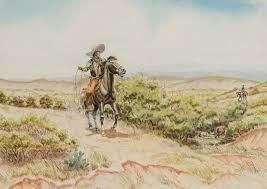 Lot - Byron Wolfe   Vaqueros Working the Brush
