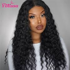 water wave lace front wigs Human Hair Water Wave Lace Front Wigs 150%-250% Density With Baby