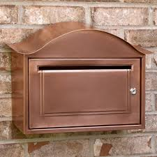 residential mailboxes wall mount. Arched Locking Wall Mount Copper Mailbox - Antique Residential Mailboxes I