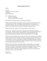 Denial Letters For Claims Insurance Letter Sample Car Appeal