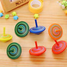 Wooden Spinning Top Game Toy Kids Wood Spinning Top Spinner Gyro Wooden Children Toys Game 84