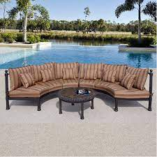 captiva outdoor patio half round sofa
