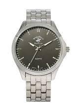 polo watch beverly hills polo club classic men s 53497 silver tone bracelet fashion watch
