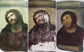 elderly woman destroys 19th century fresco with diy restoration telegraph