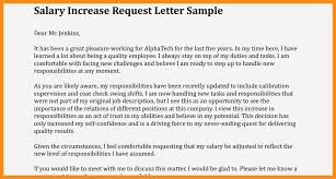 Requesting A Salary Increase 10 Letter For Salary Increase To Employer Resume Samples