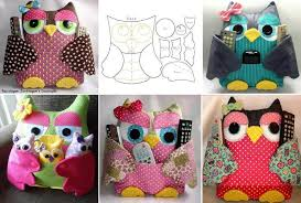 owl pillow remote control holder pattern