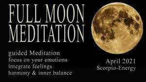 FULL MOON APRIL 2021 Meditation guided (Scorpio) super full moon strawberry  emotion pink moon - YouTube