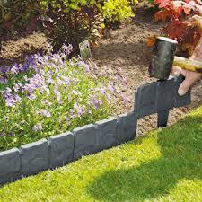 plastic garden edging roll bunnings stone effect border hammer in lawn icon plastics mm m jarrah