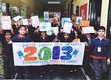 world water day  children made their own posters to celebrate world water day paryavaran mitra programme in 2013