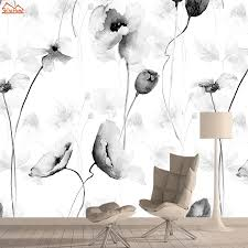 Black White Flower Wall Paper Papers ...