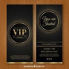 vip invitation template free vector
