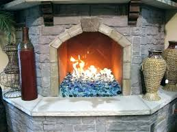gas fireplace glass rocks with decorations 10