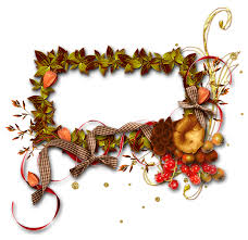 autumn frame photo frame transpa background bow