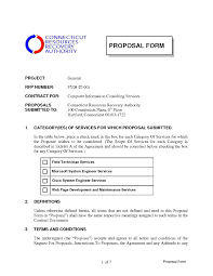 It Consulting Proposal Template Free Consulting Proposal Template RESUME 19