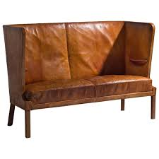 High Back Sofas frits henningsen early high backed sofa in original cognac leather 1236 by guidejewelry.us