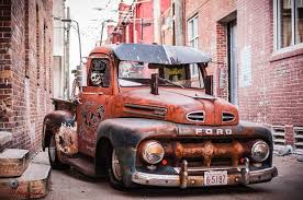 1952 Ford F1 F-1 pickup ratrod with tractor trailer side mirrors ...