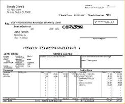 Sample Check Stub Payroll Check Sample Payroll Check Stub Template