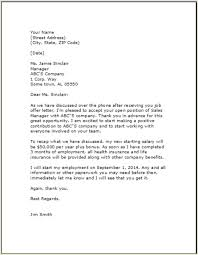 Employment Acceptance Letter Job Acceptance Letter Template Examples Samples Free Edit