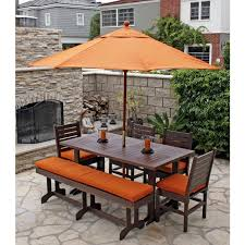 eagle one monterey recycled plastic 6 foot patio dining set with bench green