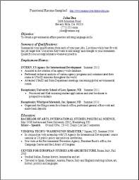 Example Of Functional Resume Musiccityspiritsandcocktail Com
