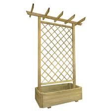 Garten Pergola Pflanzkübel 162 X 56 X 204 Cm Holz
