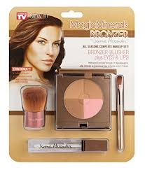 magicminerals bronzer by jerome alexander ultra natural bronzer blush pact plus clear lipgloss