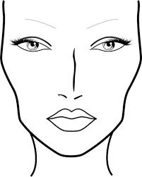 blank mac face charts printable
