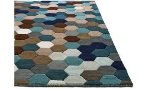 rectangular rugs kaleidoscope rug rectangular blue fabric