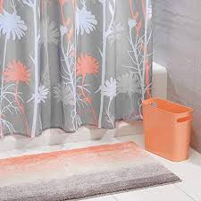 Bathroom decor shower curtains Elegant Bathroom Mdesign Piece Decorative Bathroom Decor Set Floral Polyester Fabric Shower Curtain Ombre Microfiber Amazoncom Bathroom Shower Curtain Sets Amazoncom