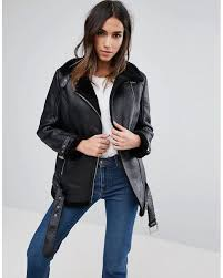 barneys originals black barneys faux leather aviator jacket nice and generous womens jackets tq6dhzxb8so6