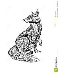 чёрно белые картинки лисы
