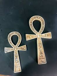 Egyptian ankh of isis with open wings and cartouche hieroglyphs wall decor 3d plaque figurine 7.5. 7 75 Egyptian Key Of Life Egyptian Ankh Wall Hanging For Desks Home Decor Ebay