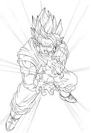 Pages A Colorier De Goku Super Saiyan Coloring Pages School Dragon