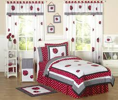 Little Red Ladybug Girls Bedding Twin or Full/Queen Kids Comforter Sets
